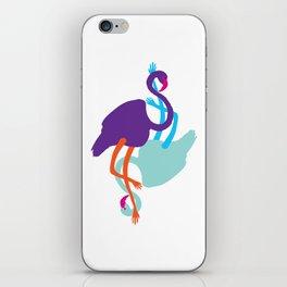 Animal Mardi Gras (Flamingo Mauve Turquoise) iPhone Skin