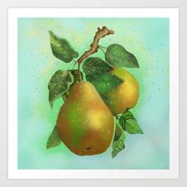 Vintage pear print Art Print