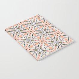 Coral Decoraive Tile Notebook