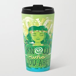 Know who you are Metal Travel Mug