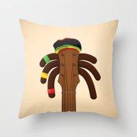 reggae Throw Pillows featuring Reggae by Emir Simsek