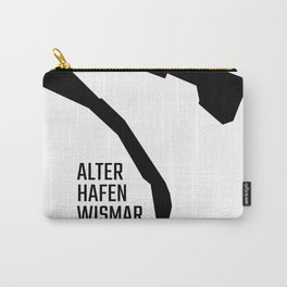 Alter Hafen Wismar – Black on White Carry-All Pouch