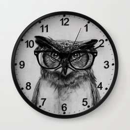 Mr. Owl Wall Clock