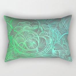 The Ebb and Flow - Teal Rectangular Pillow