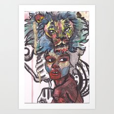 Debra her golden spirit animal Art Print