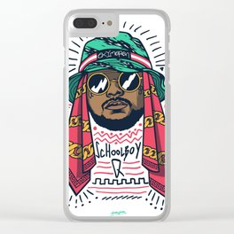 SchoolboyQ Clear iPhone Case