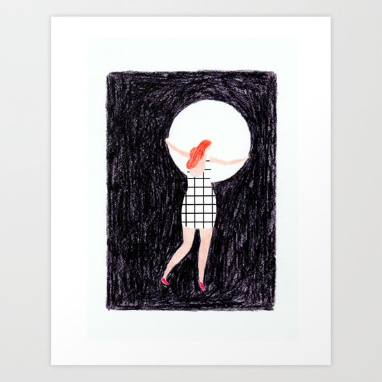The girl who stole the moon Art Print