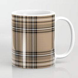Coffee and Cream Tartan Coffee Mug