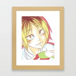 Kenma Haikyuu!! Framed Art Print