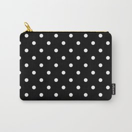 Polka dot black and white Carry-All Pouch