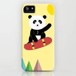 Panda on a skateboard iPhone Case
