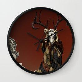 Red Shaman Wall Clock