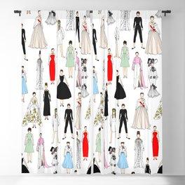 Audrey Fashion Whimsical Layout Blackout Curtain