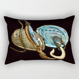 Abalone with Historic Maori Fishing Hooks Rectangular Pillow