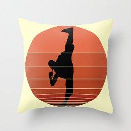 Ninja Sun Throw Pillow