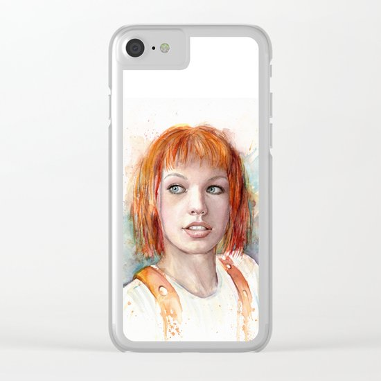 Leeloo Portrait Fifth Element Art Clear iPhone Case