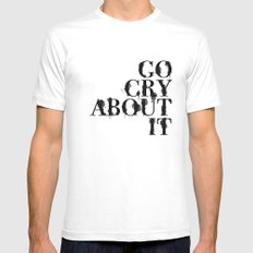 Cry MEDIUM Mens Fitted Tee White