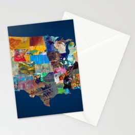 USA Map Stationery Cards