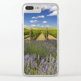 Countryside Vinyard Clear iPhone Case