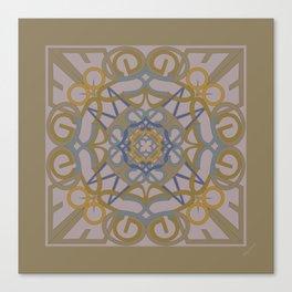 Gender Equality Mandala - Taupe Olive Canvas Print