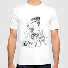Frida Kahlo Mens Fitted Tee White MEDIUM