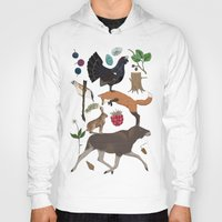 woodland Hoodies featuring Woodland by Emma Jansson