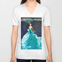 ariel V-neck T-shirts featuring Ariel by Terrel