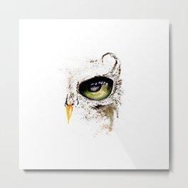 Green owl eye Metal Print