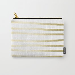 Simply Drawn Stripes Gilded Palace Gold Carry-All Pouch