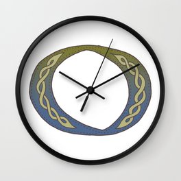 Celtic Knotwork Alphabet - Letter O Wall Clock