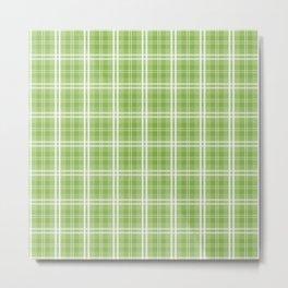 Spring 2017 Designer Colors Greenery Tartan Plaid Metal Print