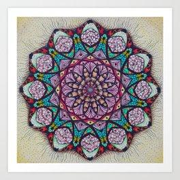 Creation Mandala - מנדלה בריאה Art Print