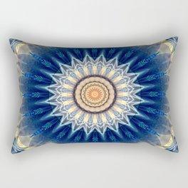 Mandala blue created by Tutti Rectangular Pillow