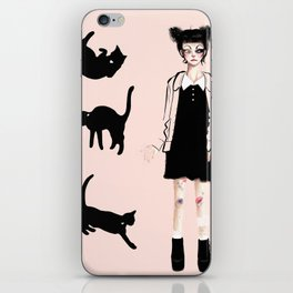 Augustine and cats iPhone Skin