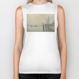 Claude Monet - The Thames Below Westminster Biker Tank
