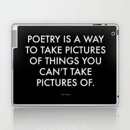 """Poetry"" Text Laptop & iPad Skin"