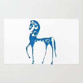 blue horse Rug