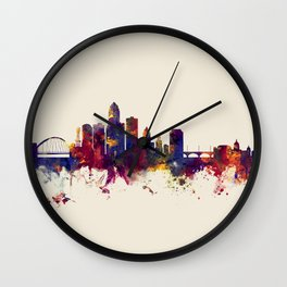 Des Moines Iowa Skyline Wall Clock
