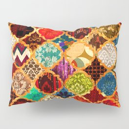 -A32- Epic Colored Traditional Moroccan Artwork. Pillow Sham