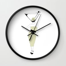 LIQUID DINNER PARTY DARLING, ANOTHER MARTINI? Wall Clock