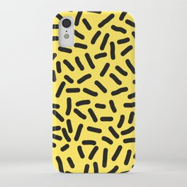 Black and yellow iPhone Case