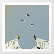 Blue Mittwoch Art Print