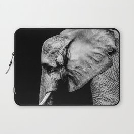 Elephant Portrait BW Laptop Sleeve