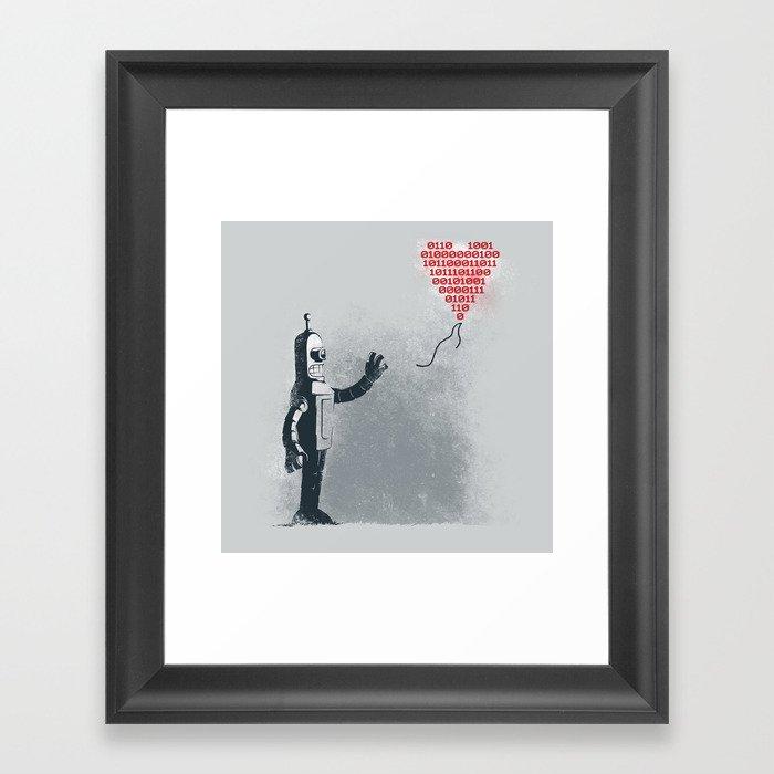Binary Art Framed Art Print
