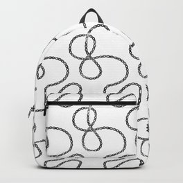 bicycle chain repeat pattern Backpack