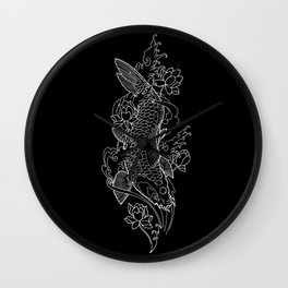 Koi Fish 1 Wall Clock