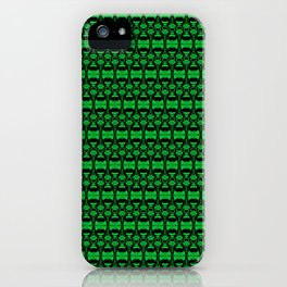 Dividers 02 in Green over Black iPhone Case
