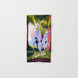 Vintage poster - Puerto Rico Hand & Bath Towel