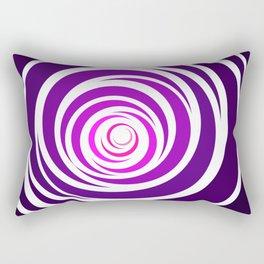 Spinnin Round Purple Rectangular Pillow
