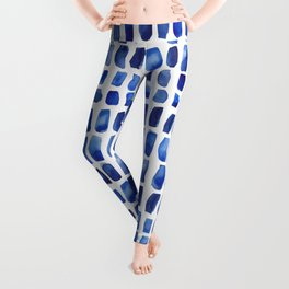 Watercolor Blue Swatches Leggings